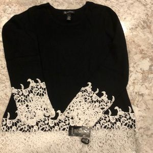 Black and White INC sweater NWT